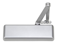 Norton 410Daxtpn 689: Norton 410 Series Adjustable Spring Size 1-6 Door Closer, Delayed Action, With Regular Arm, Tri-Packed, 689 Aluminum Finish (10 Year Warranty)