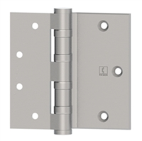 Hager 42617 - Bb1163 -  4-1/2 In Half Surface Ball Bearing Hinge, Steel Heavy Weight, Box of 3, Ls