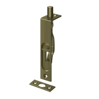 "Deltana 4Fbs5 - 4"" Flush Bolt, Hd - Antique Brass Finish"