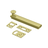 "Deltana 4Sbcs3 - 4"" Surface Bolt, Concealed Screw, Hd - Polished Brass Finish"