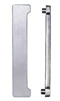 "Trimco 5000-T.619 - Lock Astragal Cast 1/2"" Thick, Satin Nickel Plated, Clear Coated"