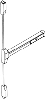 S. Parker Hardware 525Val, Vertical Touch Bar Aluminum Finish For Double Doors Installation