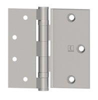 Hager 5351 - Bb1173 -  4 In Half Surface Ball Bearing Hinge, Steel Standard Weight, Box of 3, Us26d