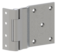 Hager 5551 - Ab7534 -  5 In Half Surface Swing Clear Hinge, Concealed Bearing, Steel Heavy Weight, Box of 3, Us26d