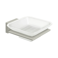 Deltana 55D2012-15 - Frosted Glass Soap Dish, 55D Series, Brushed Nickel Finish