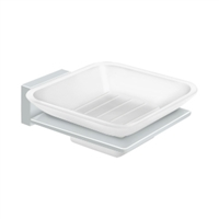 Deltana 55D2012-26 - Frosted Glass Soap Dish, 55D Series, Polished Chrome Finish