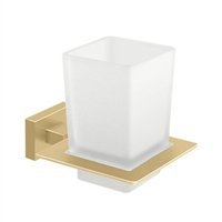 Deltana 55D2014-4 - Frosted Glass Tumbler Set, 55D Series, Brushed Brass Finish