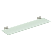 "Deltana 55D2015-15 - 22"" Glass Shelf, 55D Series, Brushed Nickel Finish"