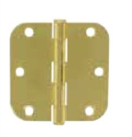 "Ultra Hardware 61743, 3-1/2"" X 3-1/2"" Door Hinge, 2.2Mm Gauge, Rp Pin, 5/8"" Radius Corner, Plain Bearing, Antique Brass/Us5, Pack Of 3"
