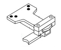 "Norton 6191B-25: Norton 7500 Series Door Closer Accessories - Unitrol Wide Frame Reinforcing For Wide Soffit And 1/4"" Weatherstrip"