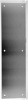 "Don Jo 69-605, 3"" X 12"" .050 Push Plates, 605 Finish"