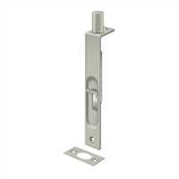 "Deltana 6Fbs15 - 6"" Flush Bolt, Hd, Square - Brushed Nickel Finish"
