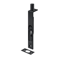 "Deltana 6Fbs19 - 6"" Flush Bolt, Hd, Square - Paint Black Finish"