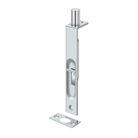 "Deltana 6Fbs26 - 6"" Flush Bolt, Hd, Square - Polished Chrome Finish"