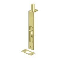 "Deltana 6Fbs3 - 6"" Flush Bolt, Hd, Square - Polished Brass Finish"