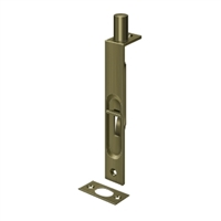 "Deltana 6Fbs5 - 6"" Flush Bolt, Hd, Square - Antique Brass Finish"