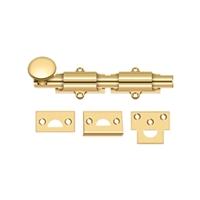 "Deltana 6Sb003 - 6"" Surface Bolt, Hd - Pvd Polished Brass Finish"