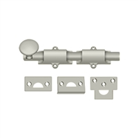 "Deltana 6Sb15 - 6"" Surface Bolt, Hd - Brushed Nickel Finish"