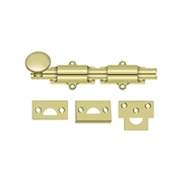 "Deltana 6Sb3 - 6"" Surface Bolt, Hd - Polished Brass Finish"