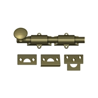 "Deltana 6Sb5 - 6"" Surface Bolt, Hd - Antique Brass Finish"