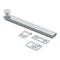 "Deltana 6Sbcs26 - 6"" Surface Bolt, Concealed Screw, Hd - Polished Chrome Finish"