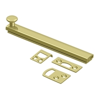 "Deltana 6Sbcs3 - 6"" Surface Bolt, Concealed Screw, Hd - Polished Brass Finish"