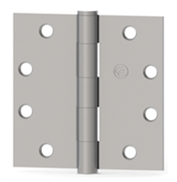 Hager 75047 - Ec1100 -  4-1/2 In x 4 In Full Mortise Plain Bearing Hinge, Steel Standard Weight, Box of 3, Us26d