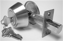 S. Parker Hardware 82162Ku, Single Cylinder Heavy Duty Deadbolt With Solid Bar Construction, Stainless Steel Keyed U
