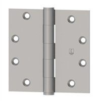 Hager 8612 - 1279 -  4-1/2 In x 4 In Full Mortise Plain Bearing Hinge, Steel Standard Weight, Box of 3, Us15