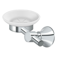 Deltana 88Sd-26 - Frosted Glass Soap Dish, 88 Series -  Polished Chrome Finish