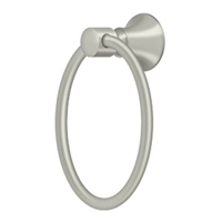 "Deltana 88Tr6-15 - 6"" Towel Ring, 88 Series - Brushed Nickel Finish"