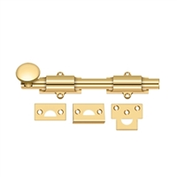 "Deltana 8Sb003 - 8"" Surface Bolt, Hd - Pvd Polished Brass Finish"