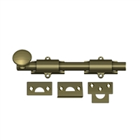 "Deltana 8Sb5 - 8"" Surface Bolt, Hd - Antique Brass Finish"