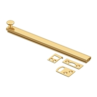 "Deltana 8Sbcs003 - 8"" Surface Bolt, Concealed Screw, Hd - Pvd Polished Brass Finish"