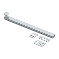 "Deltana 8Sbcs26 - 8"" Surface Bolt, Concealed Screw, Hd - Polished Chrome Finish"
