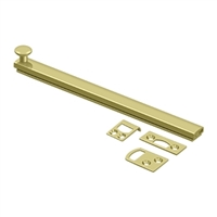 "Deltana 8Sbcs3 - 8"" Surface Bolt, Concealed Screw, Hd - Polished Brass Finish"