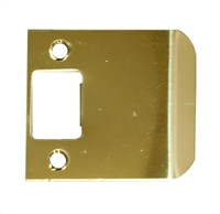 "Don Jo 9102-605, 2-1/4"" x 2"" Extended Lip Strike, Bright Brass"
