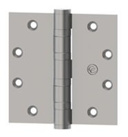 Hager 91618 - Ecbb1102 Nrp -  5 In x 4-1/2 In Full Mortise Ball Bearing Hinge, Non Removable Pin, Steel Heavy Weight, Us26d