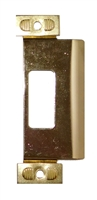 "Don Jo 9454-BP, 4-7/8"" x 1-1/4"" Adjustable ANSI Strike, Brass Plated"