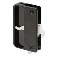 Prime Line A 108 - Screen Door Latch & Pull W/Security Lock, Black Plastic
