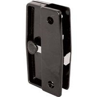 Prime Line A 139 - Screen Door Latch & Pull, Mortise Style, Black Plastic
