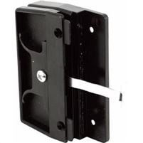 Prime Line A 145 - Screen Door Latch&Pull, Mortise Type, Black Plastic