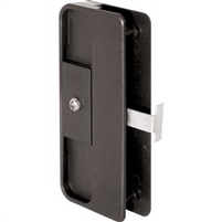 Prime Line A 150 - Screen Door Latch&Pull, Mortise Style, Black Plastic