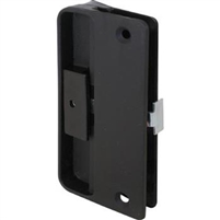 Prime Line A 151 - Screen Door Latch&Pull Mortise Type, Black Plastic