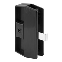 Prime Line A 180 - Sliding Screen Door Latch&Pull, Snap-In, Black, Academy