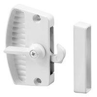 Prime Line A 199 - Screen Door Latch & Pull, White