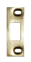 "Don Jo A-2-SDS-BP, 3-3/8"" x 1-1/4"" Adjustable Security Strike For Deadbolt, Brass Plated"