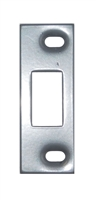"Don Jo A-2-SDS-SL, 3-3/8"" x 1-1/4"" Adjustable Security Strike For Deadbolt, Silver Coated"