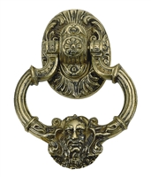"Brass Accents A04-K5060-609 - Neptune Door Knocker 7-3/8"" Antique Brass - Antique Brass Finish"