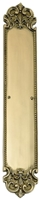 "Brass Accents A04-P3220-619 - Fleur De Lis Push Plate 3"" X 18"" - Satin Nickel Finish"